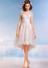 Свадебное платье из коллекции Райский остров хай-лоу