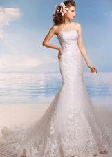 Свадебное платье из коллекции Райский остров со шлейфом