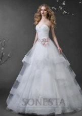 Свадебное платье из коллекции «Love Story» пышное многоярусное
