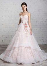 Розовое свадебное платье от Романовой