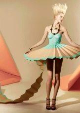 Платье из бумаги вечернее  пачка