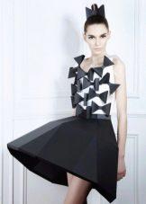 Платье из бумаги вечернее  короткое