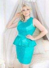 Вечернее платье с баской для 50 размера