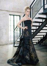Черное вечернее праздничное платье