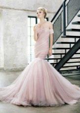 Вечернее платье русалка с драпировкой на корсете