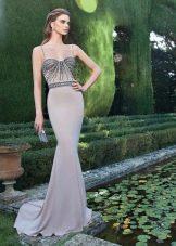 Вечернее платье пастельного цвета