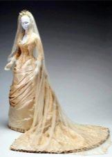 Платье с драпировкой свадебное 19 века