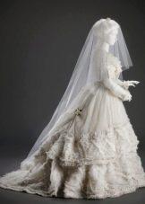 Свадебное платье ретро многослойное