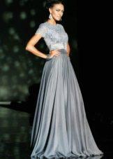 Свадебное платье серебристого цвета