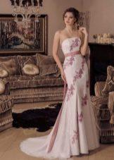 Свадебное платье русалка цветное