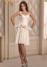 Короткое свадебное платье от Виктории Карандашевой