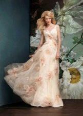 Свадебное черно-белое платье