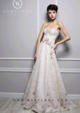 Свадебное платье цветное от Василькова