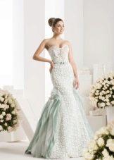 Цветное свадебное платье русалка