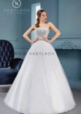 Пышное свадебное платье от Васильков со стразами