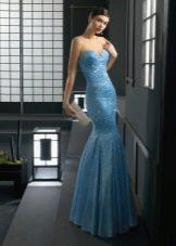 Вечернее платье русалка от Роза Клары