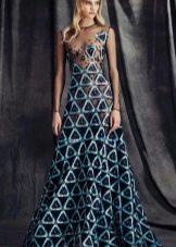 Вечернее платье с полупрозрачным лифом
