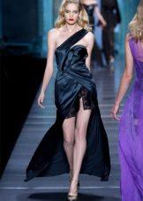 Короткое шелковое платье вечернее
