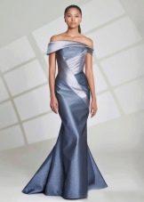 Шелковое вечернее платье рыбка