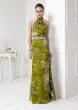 Вечернее платье  для Нового года в пол с американской проймой