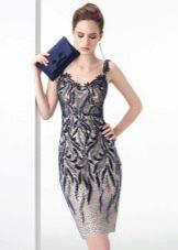 Вечернее платье с кружевому для клубной вечеринки