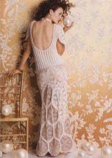 Свадебное платье из мотивов вязанное крючком