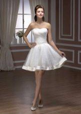Короткое свадебное платье пышное из коллекции Pearl от Хадасса