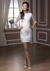 Короткое свадебное платье футляр из коллекции Pearl от Хадасса