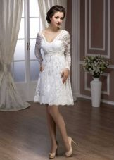 Короткое свадебное платье а-силуэта из коллекции Pearl от Хадасса