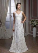 Кружевное свадебное платье прямое от Хадасса