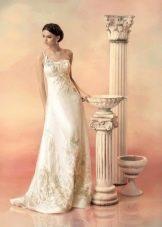 Свадебное платье из коллекции «Эллада» на одно плечо