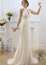 Свадебное платье с американской проймой и поясом