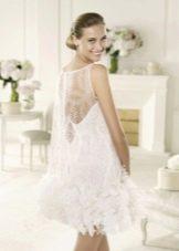 Свадебное платье из коллекции MANUEL MOTA от Проновиас короткое