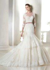 Свадебное кружевное платье от Сан Патрик