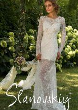 Свадебное платье кружевное от Слановски