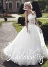 Свадебное платье с прозрачным корсетом от Слановски