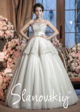 Свадебное платье с баской от Слановски
