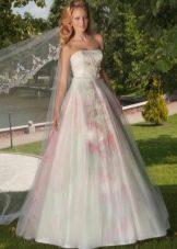 Свадебное платье от Оксаны Мухи  цветное
