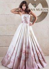 Свадебное платье от Оксаны Мухи с принтом