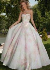 Цветное свадебное платье от Оксаны Мухи пышное
