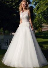 Свадебное платье от Оксаны Мухи с баской