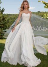 Пышное свадебное платье многоярусное от Оксаны Мухи