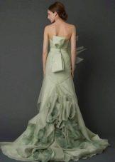 Свадебное платье от Веры Вонг из коллекции 2012 зеленое