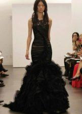Свадебное платье от Веры Вонг из коллекции 2012 черное