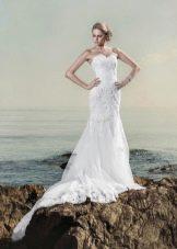Свадебное платье от Anne-Mariee из коллекции 2014 со шлейфом