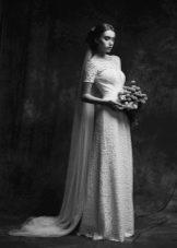 Свадебное платье от Anne-Mariee из коллекции 2015 кружевное