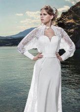 Свадебное платье от Anne-Mariee из коллекции 2014 с накидкой