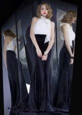 Бархатное платье с шифоном