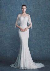 Свадебное платье с рукавами белое