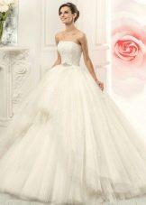 Пышное свадебное платье белое от Навиблю